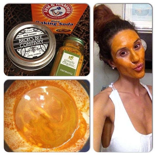 Best ideas about DIY Baking Soda Face Mask . Save or Pin This honey turmeric and baking soda face mask gently Now.