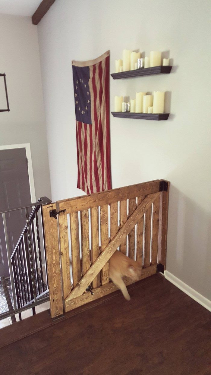 Best ideas about DIY Barn Door Baby Gate . Save or Pin DIY Barn Door Baby Gate with Pet Door Instructions Now.