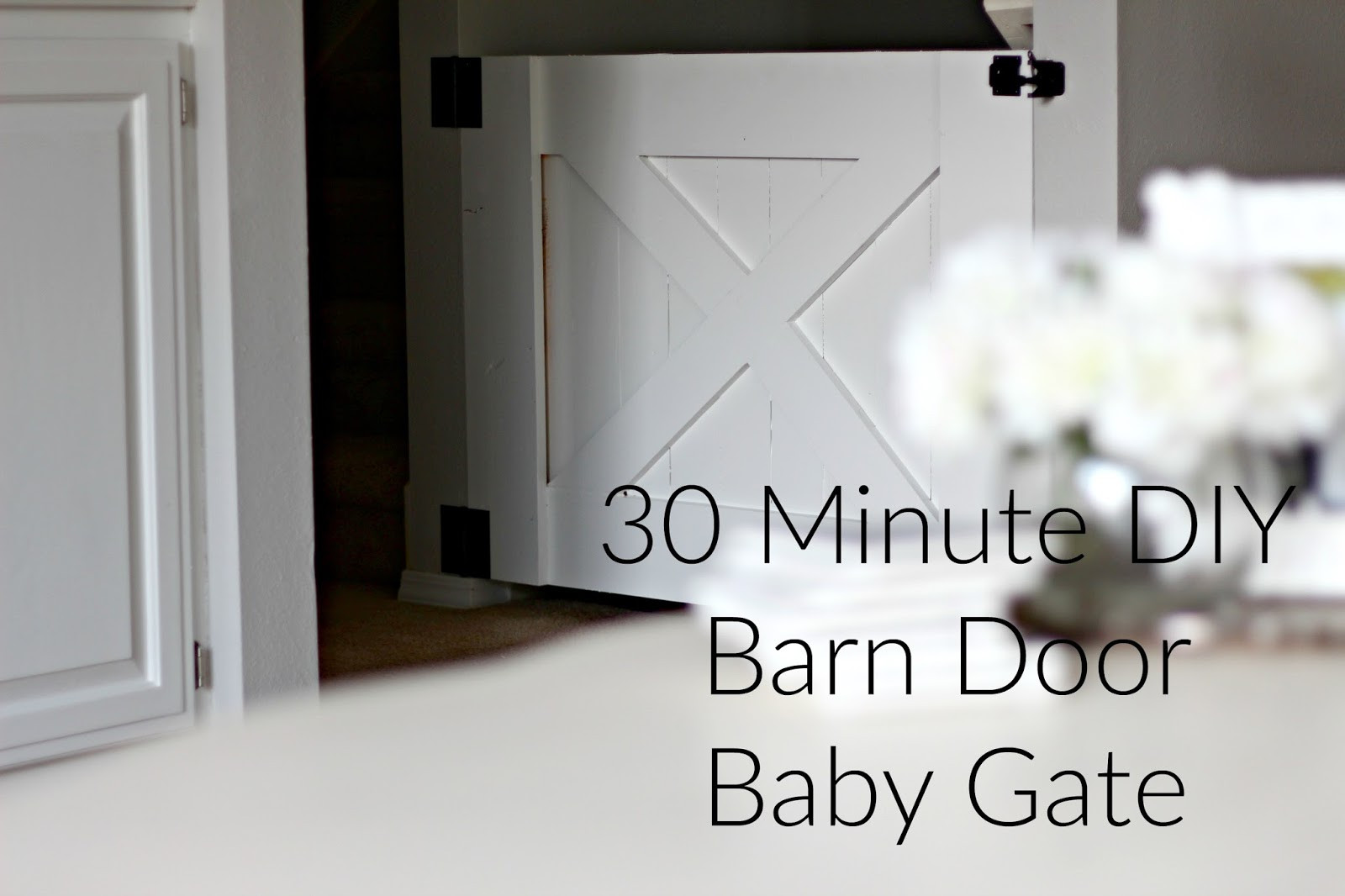 Best ideas about DIY Barn Door Baby Gate . Save or Pin Rose & Co Blog 30 Minute DIY Barn Door Baby Gate Now.