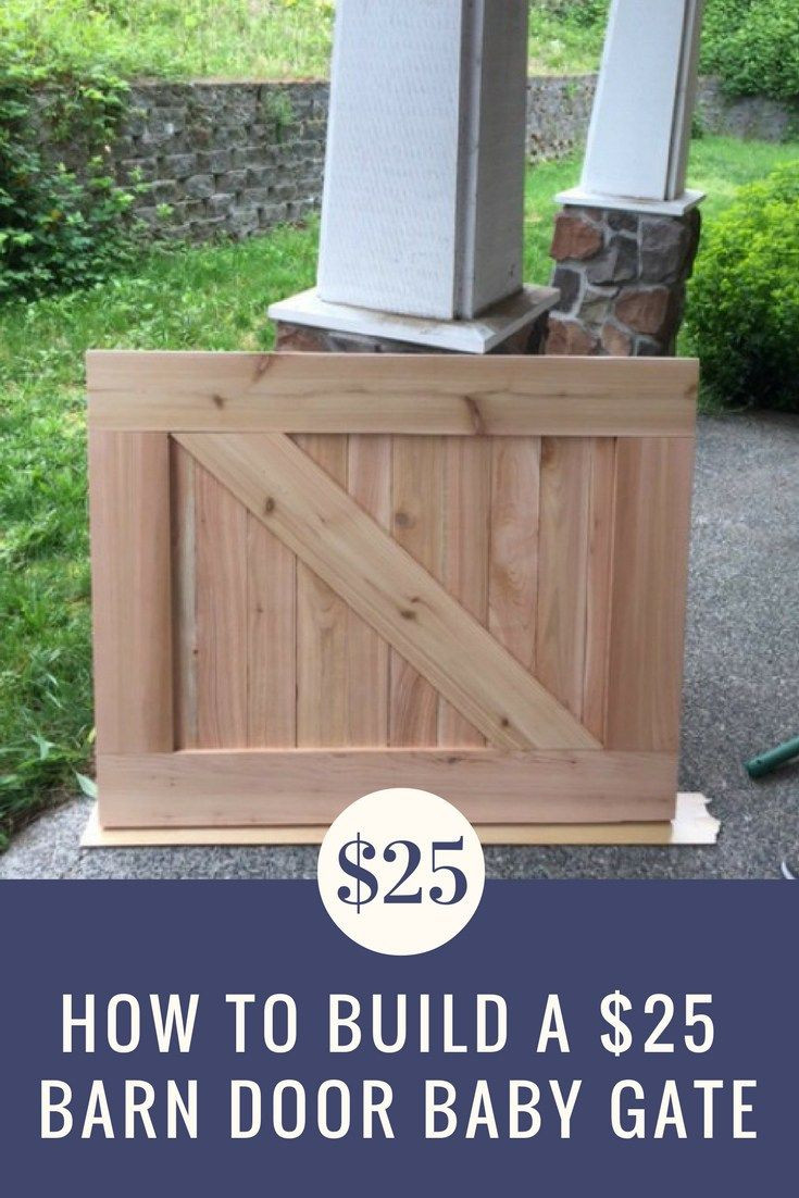 Best ideas about DIY Barn Door Baby Gate . Save or Pin How to Make a $25 Barn Door Baby Gate Now.