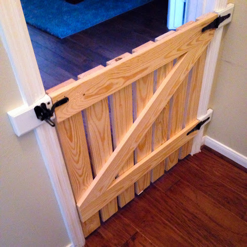 """Best ideas about DIY Barn Door Baby Gate . Save or Pin The Jersey Cowgirl DIY """"barn style"""" pet baby gate I Now."""