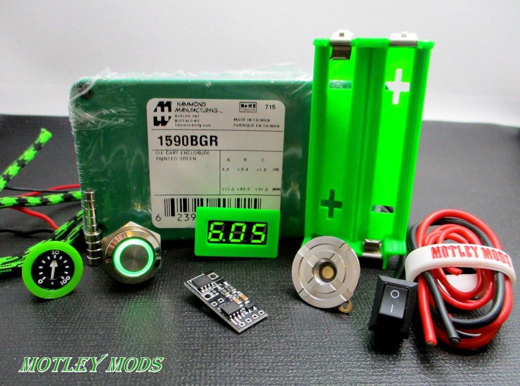 Best ideas about DIY Box Mod Supplies . Save or Pin Box Mod kit 1590B Green PWM – Motley Mods llc Now.