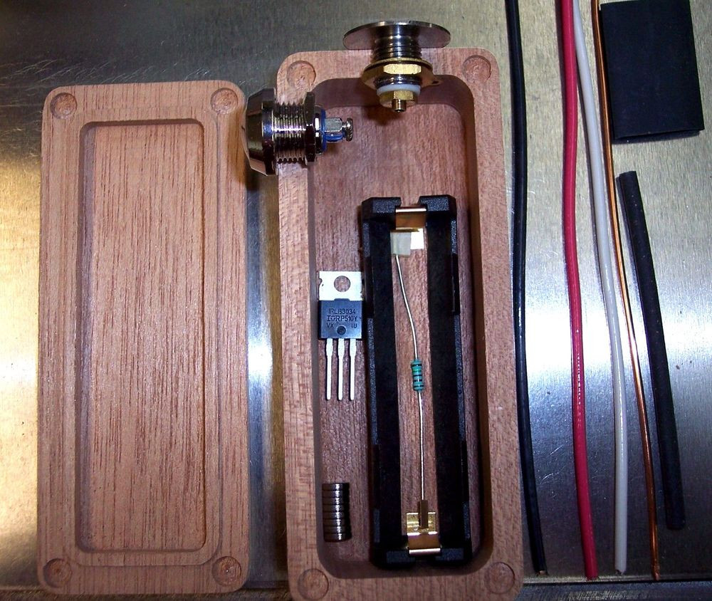 Best ideas about DIY Box Mod Supplies . Save or Pin MAHOGANY Wood Box Mod DIY Kit Enclosure Mosfet Now.