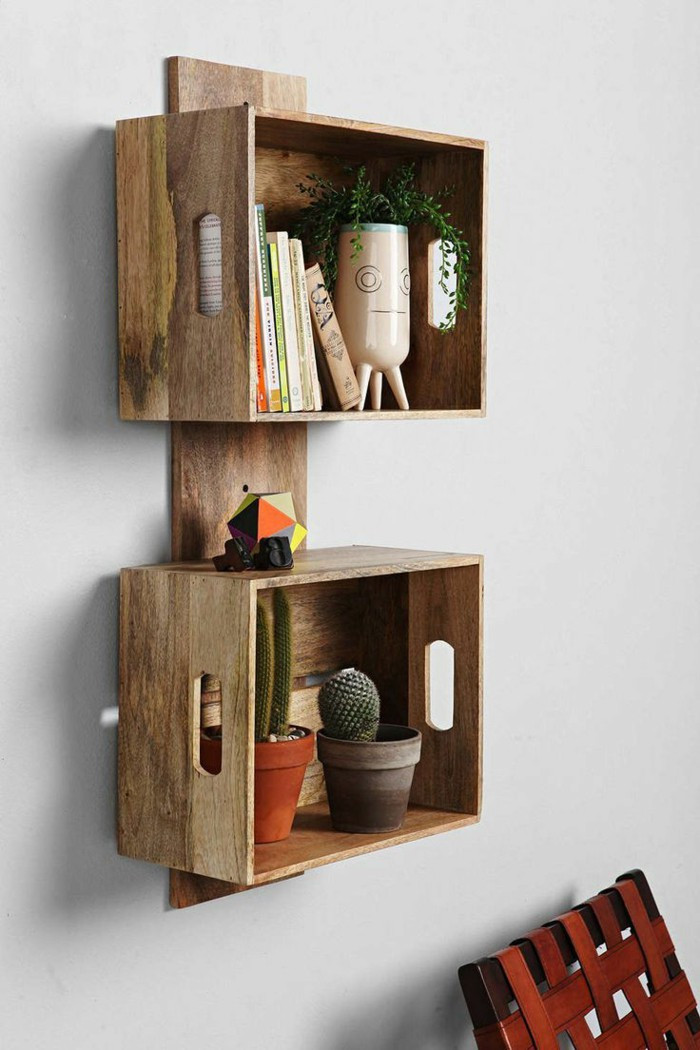 Best ideas about DIY Box Shelf . Save or Pin 39 Upcycling Decorations With Used Items – Fresh Design Pedia Now.