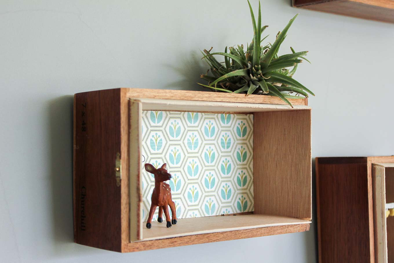 Best ideas about DIY Box Shelf . Save or Pin Super Easy DIY Floating Box Shelves From Cigar Boxes Now.