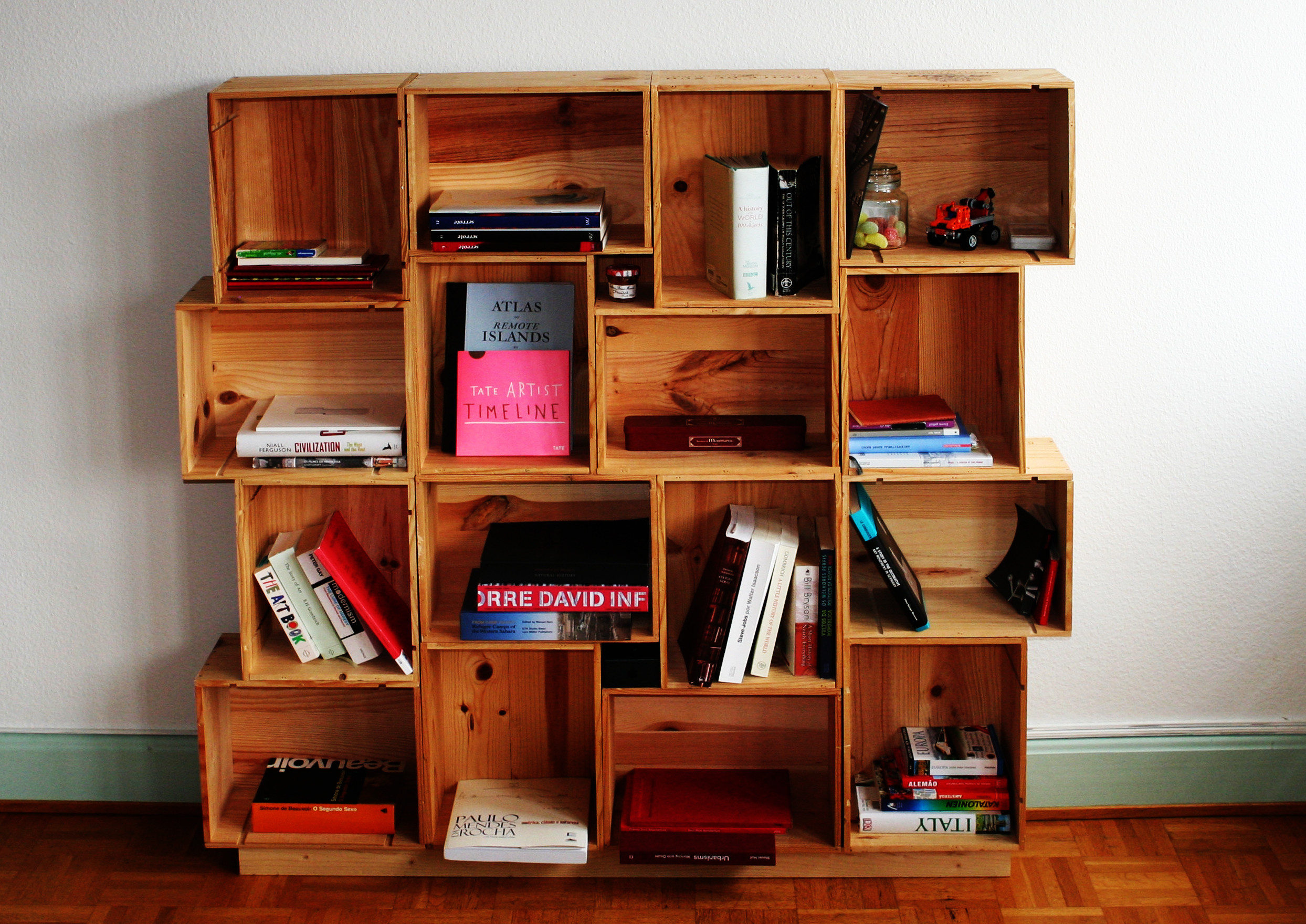 Best ideas about DIY Box Shelf . Save or Pin wine boxes shelves Now.