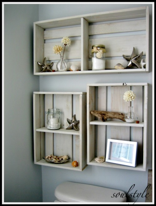 Best ideas about DIY Box Shelf . Save or Pin 17 DIY Space Saving Bathroom Shelves And Storage Ideas Now.