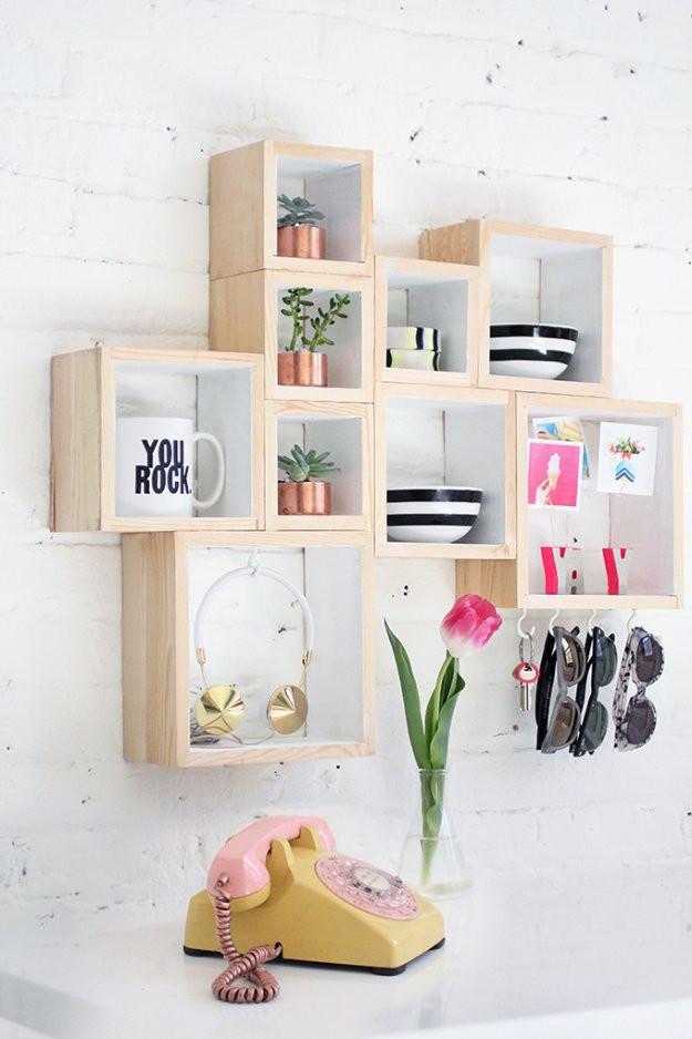 Best ideas about DIY Box Shelf . Save or Pin 30 Awesome DIY Storage Ideas DIY Joy Now.