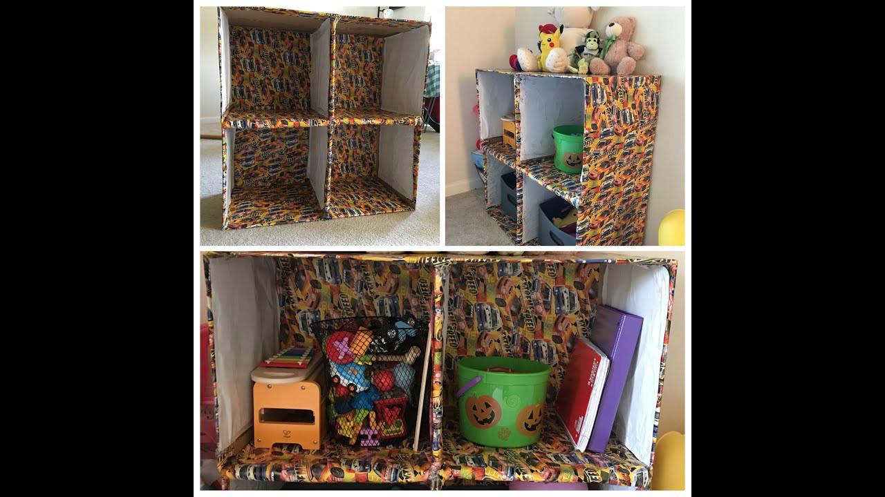 Best ideas about DIY Box Shelf . Save or Pin DIY Cardboard box shelves Now.