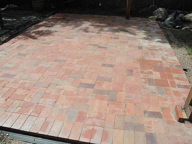 Best ideas about DIY Brick Patios . Save or Pin DIY Brick Paver Patio Quiet Corner Now.
