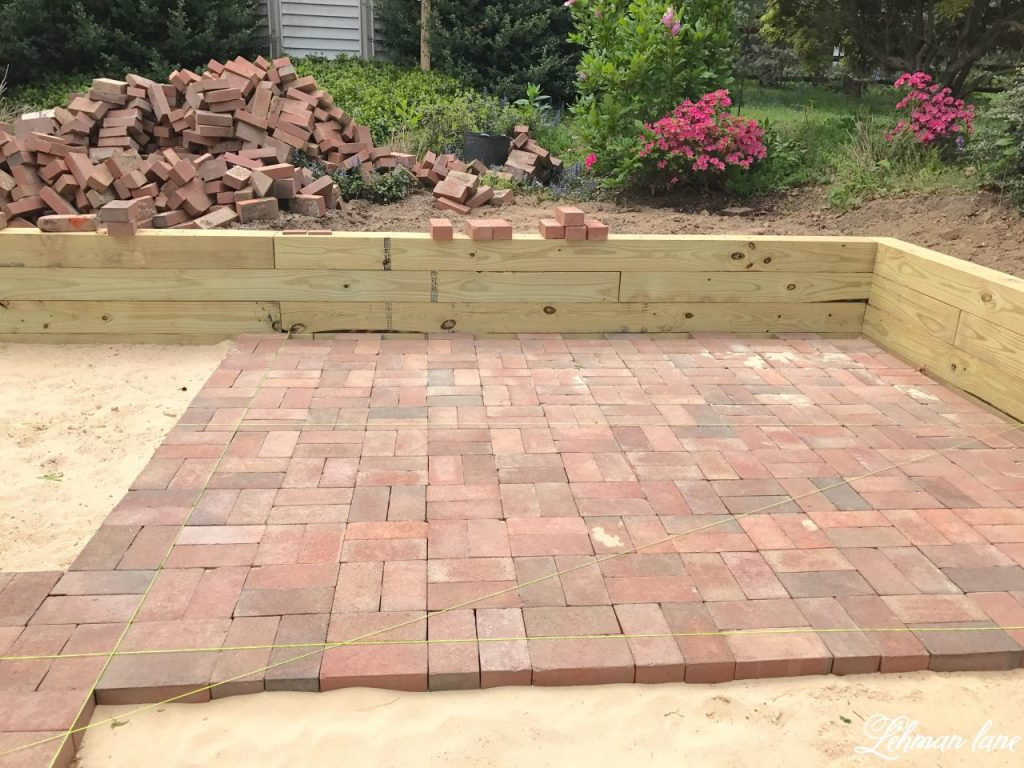 Best ideas about DIY Brick Patios . Save or Pin DIY Brick Patio Lehman Lane Now.
