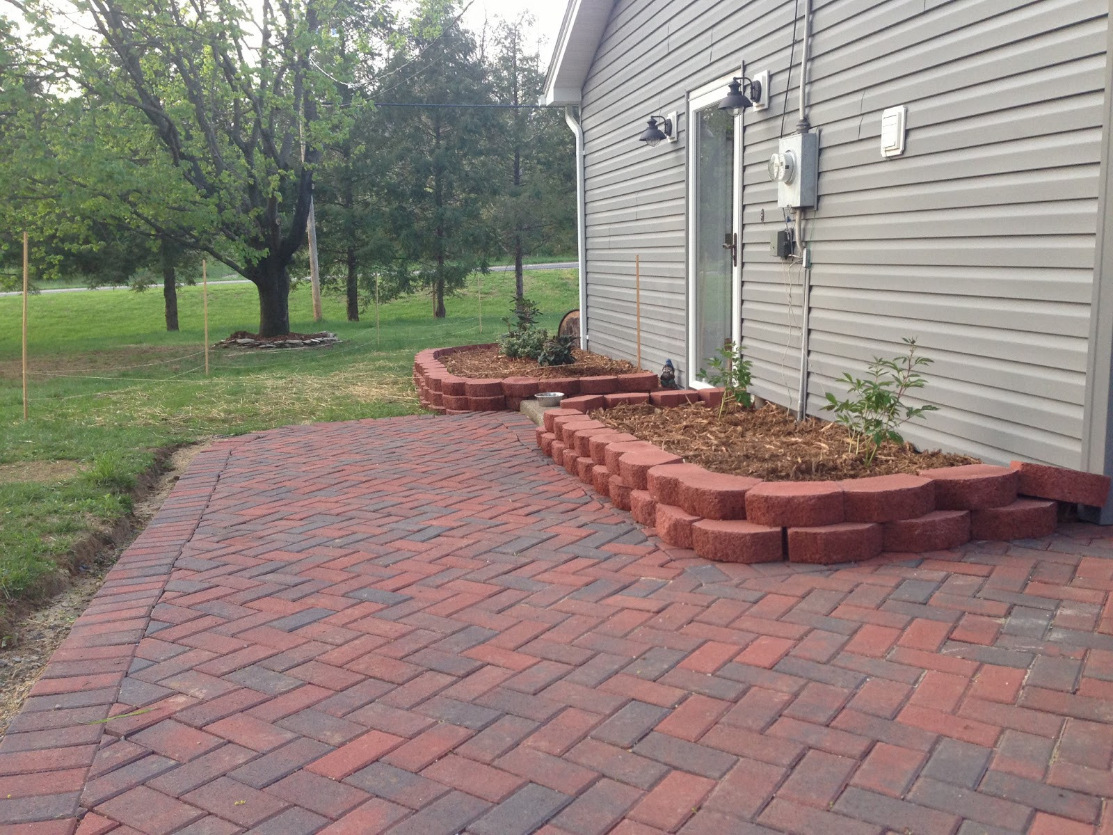 Best ideas about DIY Brick Patios . Save or Pin Newlywed Nesters DIY Paver Patio Now.