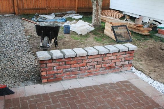 Best ideas about DIY Brick Patios . Save or Pin diy brick seat wall on patio Neat Pinterest Now.