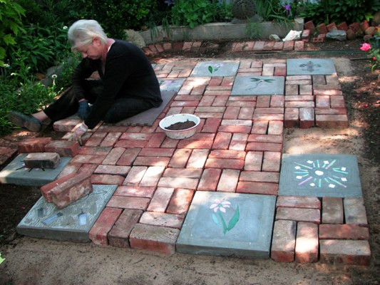 Best ideas about DIY Brick Patios . Save or Pin Becky s big patio project Now.