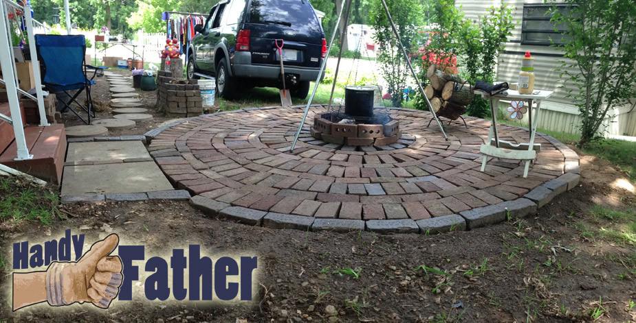 Best ideas about DIY Brick Patios . Save or Pin DIY Brick Patio walkway fire pit Handy Father Now.