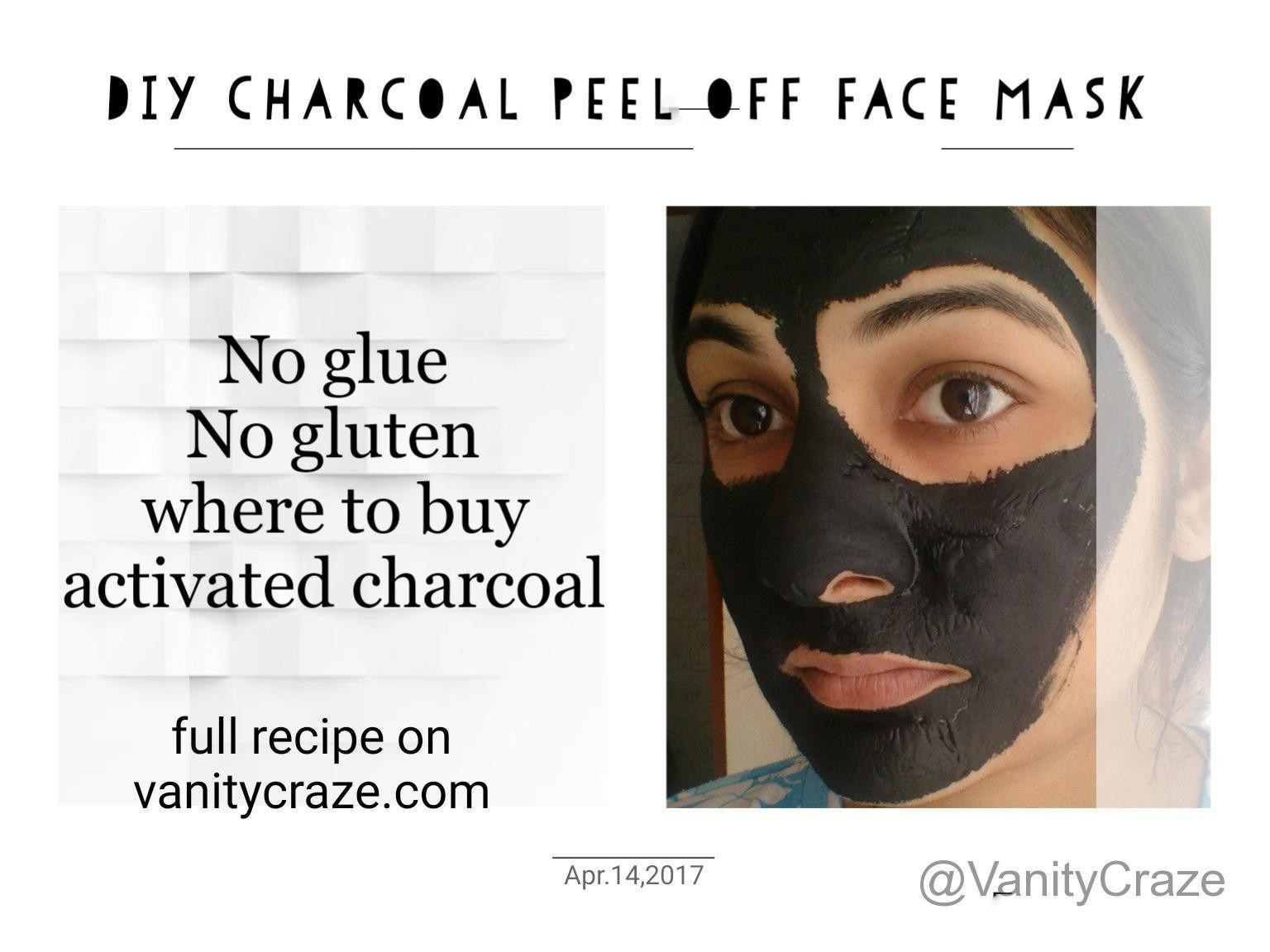 Best ideas about DIY Charcoal Mask With Glue . Save or Pin Charcoal Peel off Face Mask For Blackheads and Whiteheads Now.