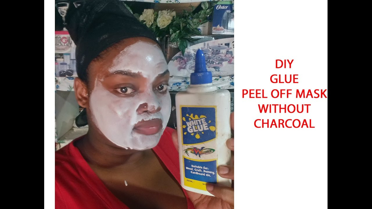 Best ideas about DIY Charcoal Mask With Glue . Save or Pin DIY GLUE PEEL OFF MASK without charcoal Now.
