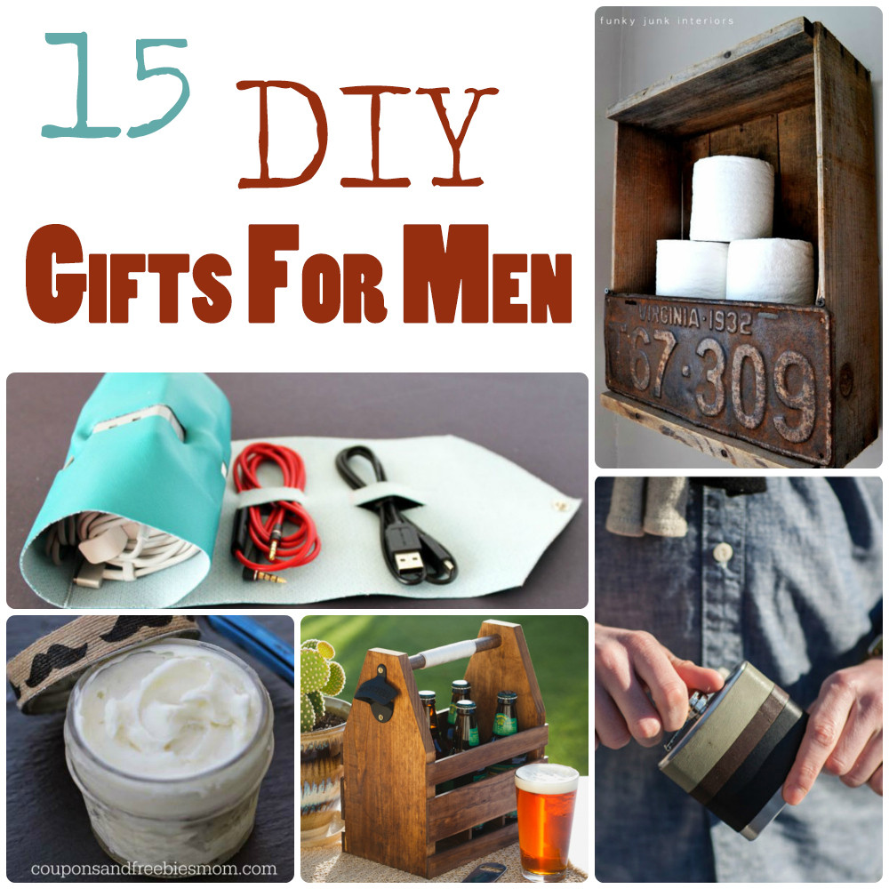 Best ideas about DIY Christmas Gift For Men . Save or Pin 15 DIY Gifts for Men Now.