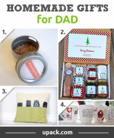 Best ideas about DIY Christmas Gifts For Dad . Save or Pin Homemade Christmas Gift Ideas For Kids Mom Dad Friends Now.