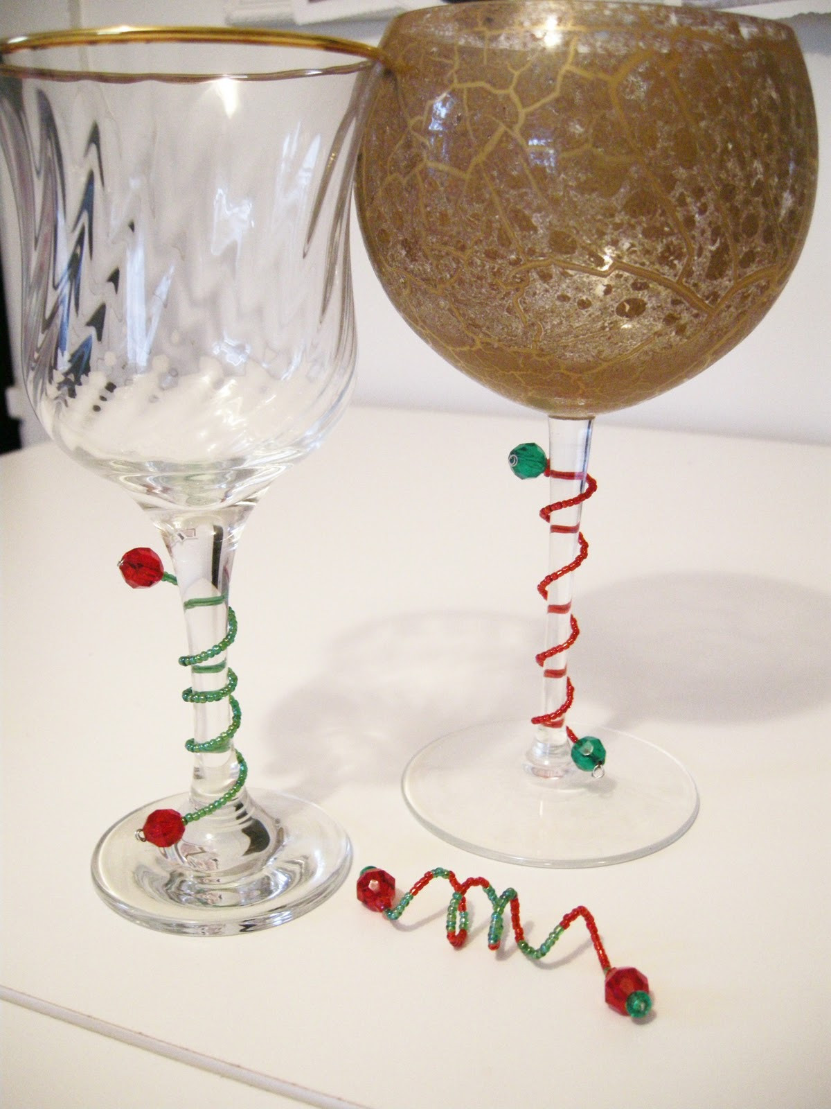 Best ideas about DIY Christmas Wine Glasses . Save or Pin Etcetorize Show and Tell Wine Gems Now.