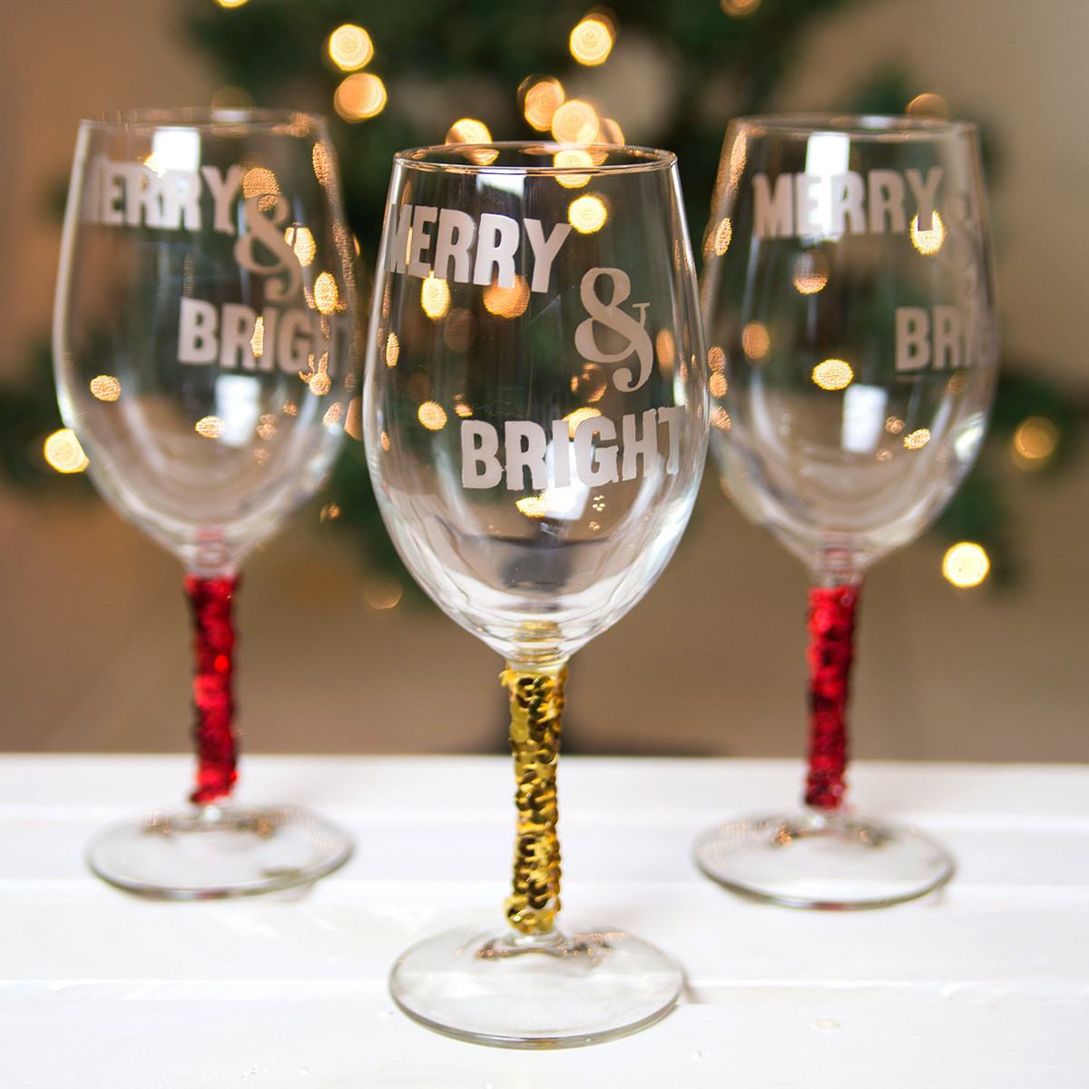Best ideas about DIY Christmas Wine Glasses . Save or Pin DIY Christmas Wine Glasses Now.