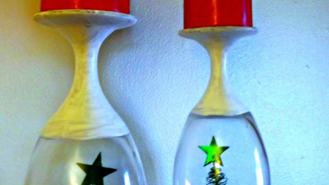 Best ideas about DIY Christmas Wine Glasses . Save or Pin DIY Christmas Wine Glasses Candle Holder This Worthey Now.