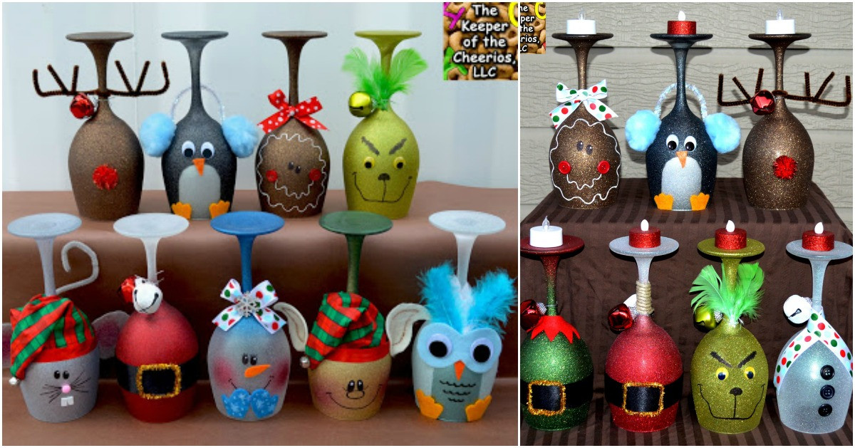 Best ideas about DIY Christmas Wine Glasses . Save or Pin 5 Cute and Clever Painting Ideas to Christmas ify Your Now.
