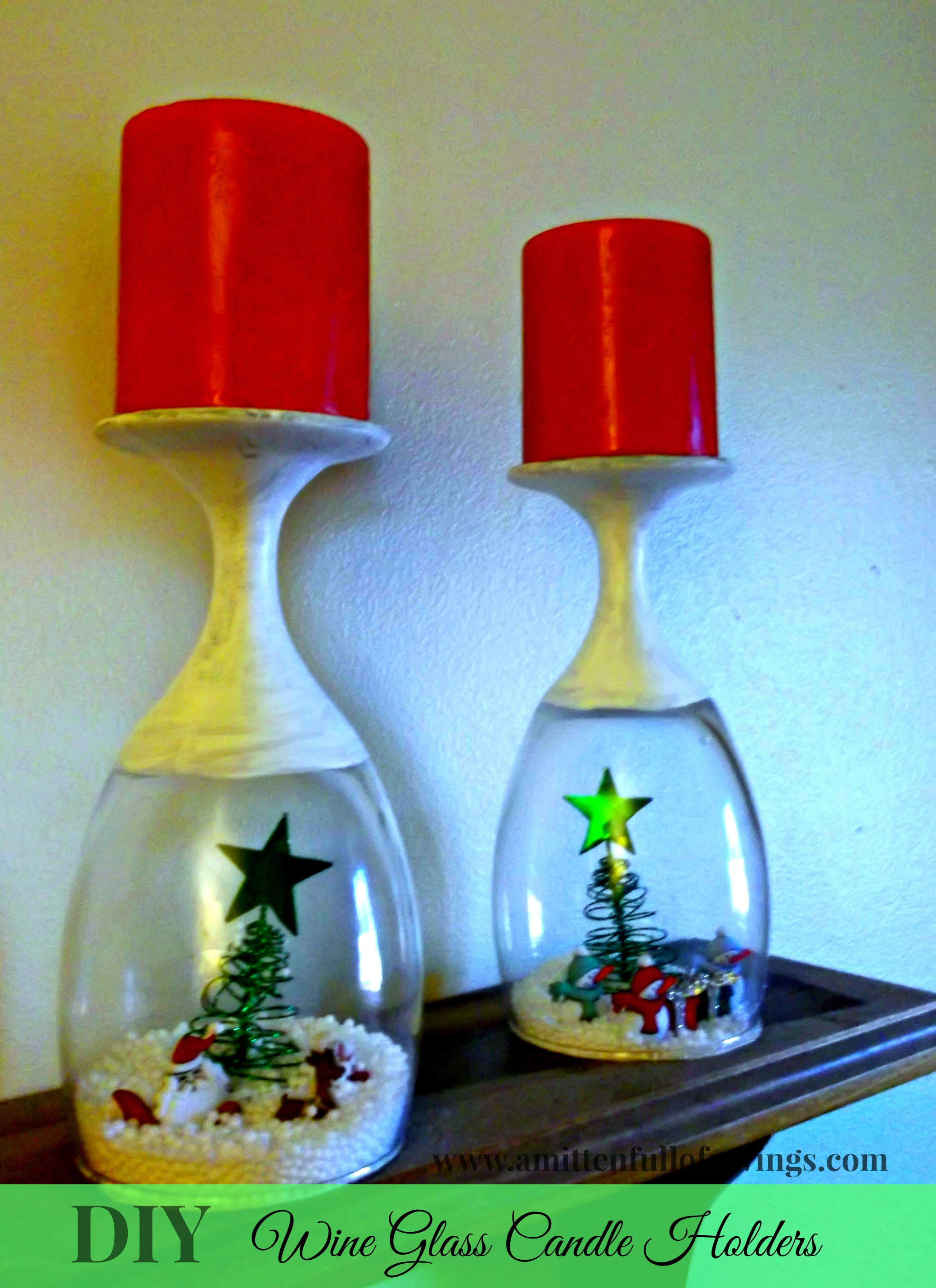 Best ideas about DIY Christmas Wine Glasses . Save or Pin DIY Christmas Wine Glasses Candle Holder This Worthey Life Now.