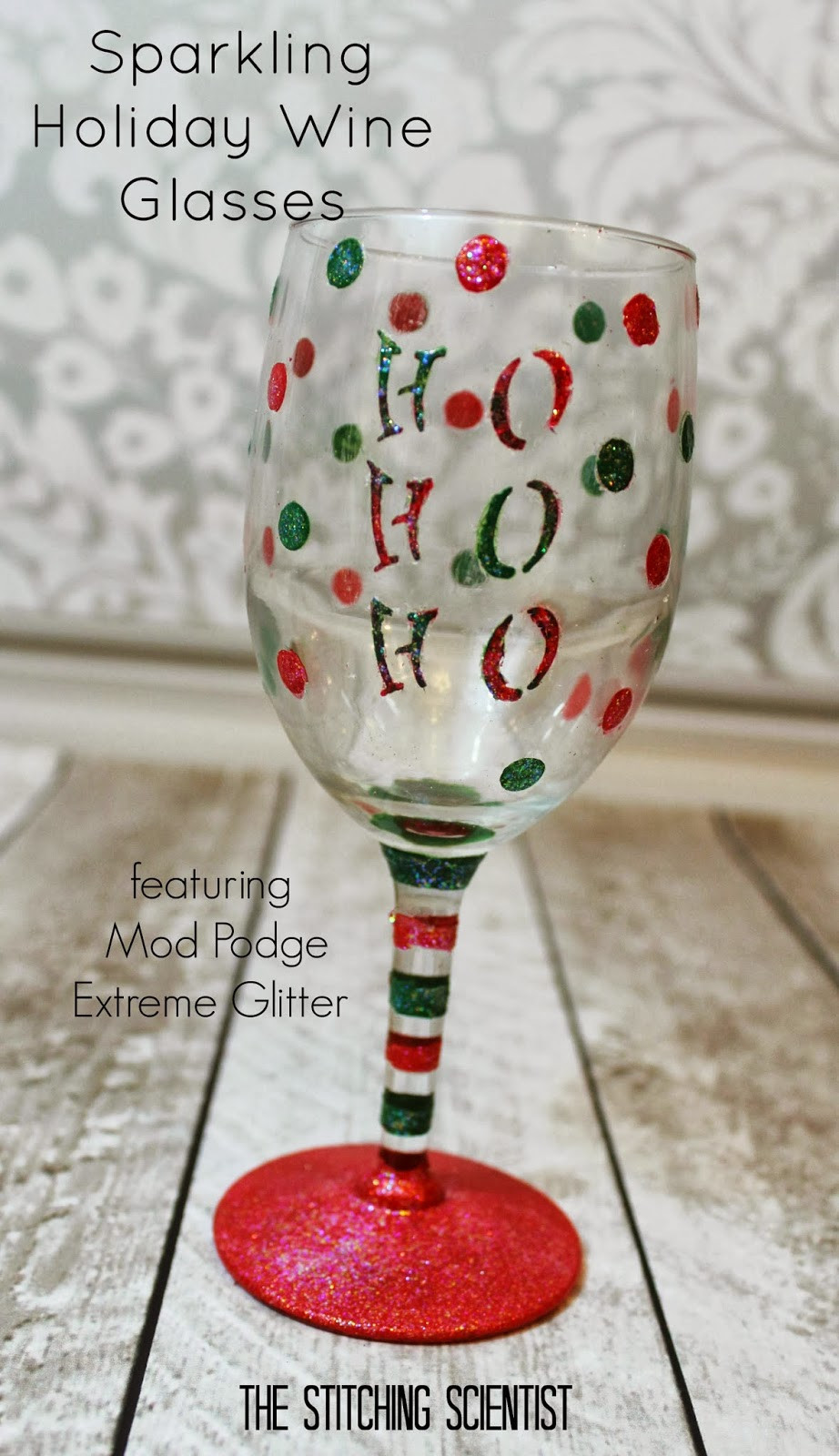 Best ideas about DIY Christmas Wine Glasses . Save or Pin DIY Sparkling Holiday Wine Glasses Now.