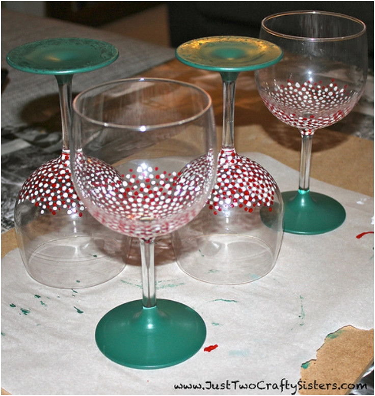 Best ideas about DIY Christmas Wine Glasses . Save or Pin Top 10 DIY Decorative Wine Glasses Top Inspired Now.