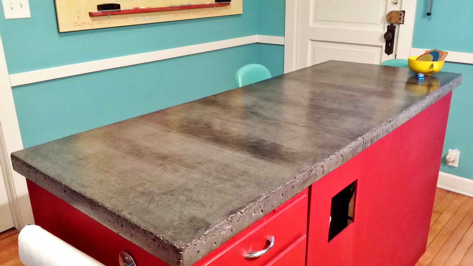Best ideas about DIY Concrete Countertops . Save or Pin Apartment 528 The Weekender DIY Concrete Countertops Now.