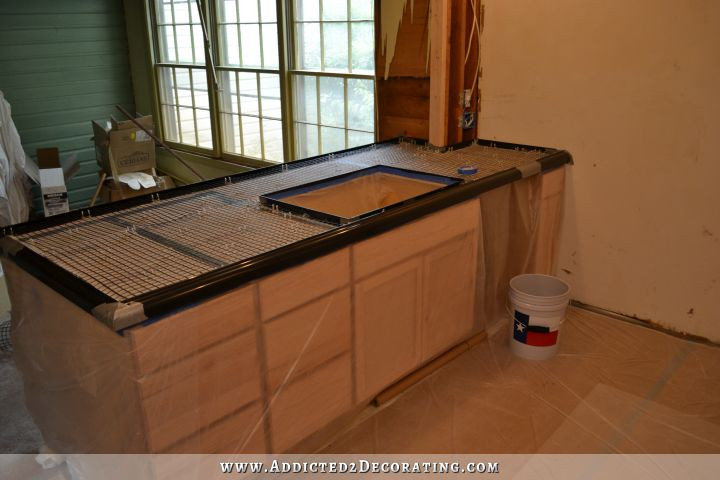 Best ideas about DIY Concrete Countertops . Save or Pin DIY Pour In Place Concrete Countertops Part 2 Addicted Now.