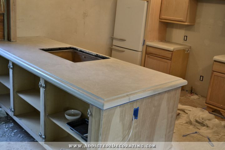 Best ideas about DIY Concrete Countertops . Save or Pin Finished Concrete Countertops Finishing Steps Total Cost Now.