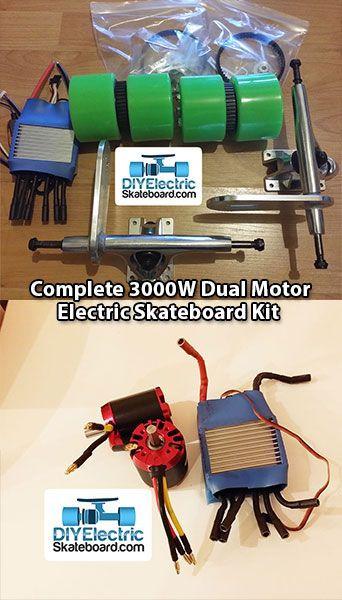 Best ideas about DIY Electric Skateboard Kit . Save or Pin plete 4400w Dual Motor Electric Skateboard Kit ‹ DIY Now.