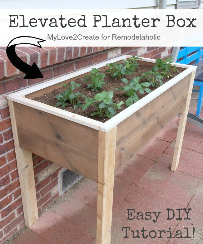 Best ideas about DIY Elevated Planter Box . Save or Pin Remodelaholic Now.