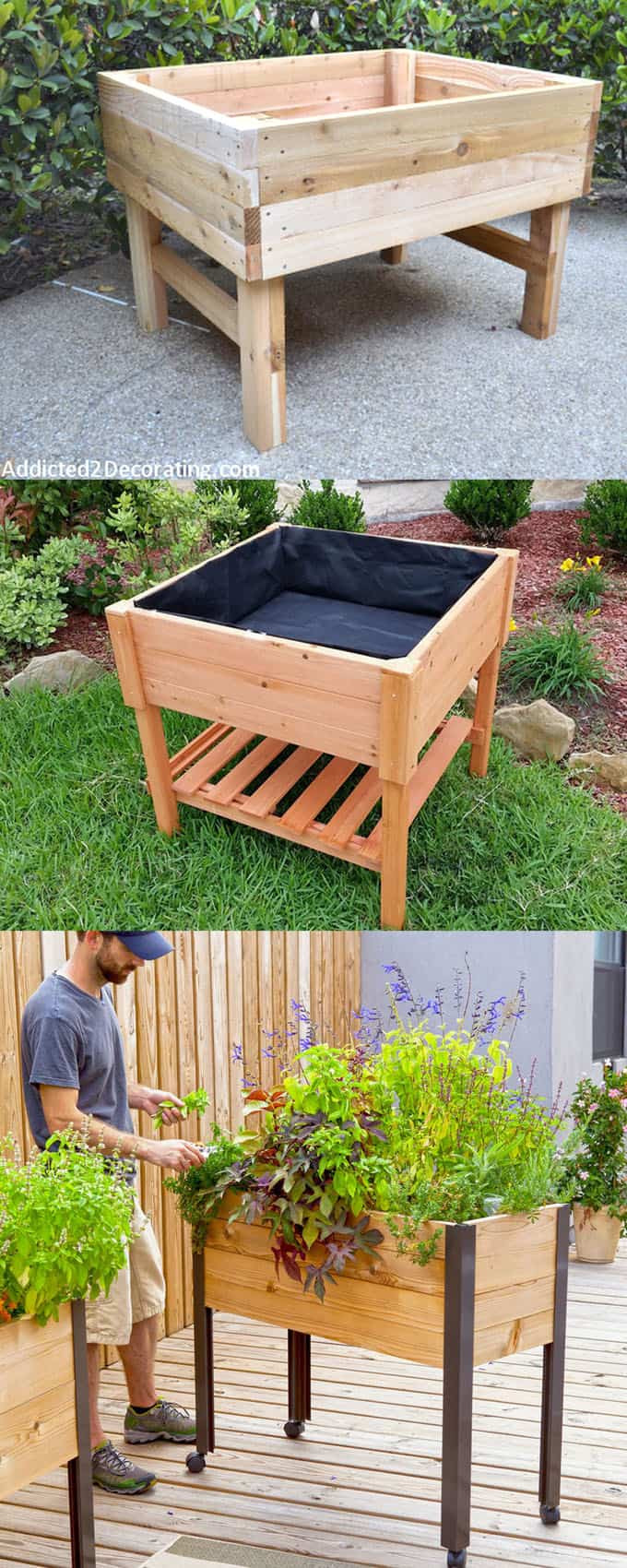 Best ideas about DIY Elevated Planter Box . Save or Pin 28 Amazing DIY Raised Bed Gardens A Piece Rainbow Now.