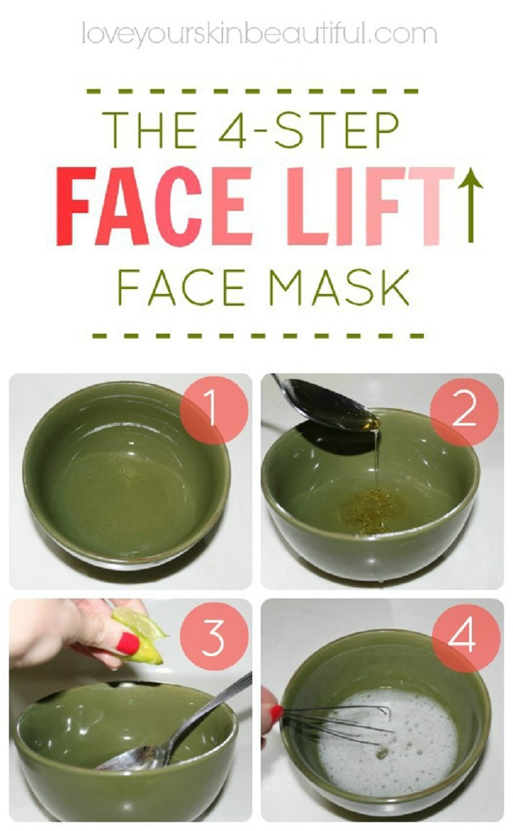 Best ideas about DIY Face Mask Recipes . Save or Pin 9 Leading DIY Home Reme s for Skin Tightening and Sagging Now.