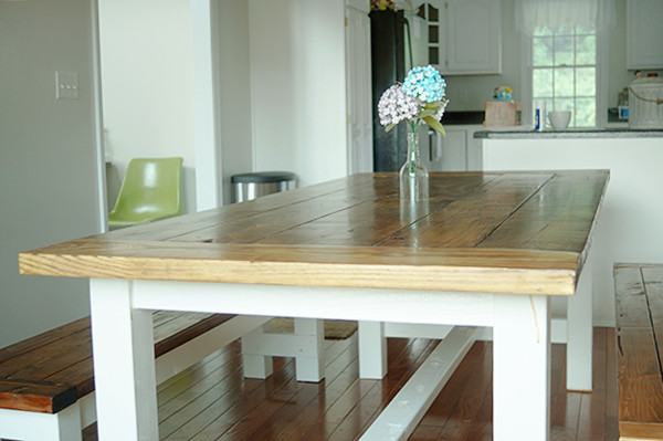 Best ideas about DIY Farmhouse Table Plans . Save or Pin DIY Farmhouse Table and Bench Using Free Plans from Ana White Now.