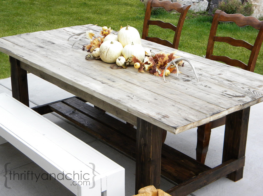 Best ideas about DIY Farmhouse Table Plans . Save or Pin Thrifty and Chic DIY Projects and Home Decor Now.