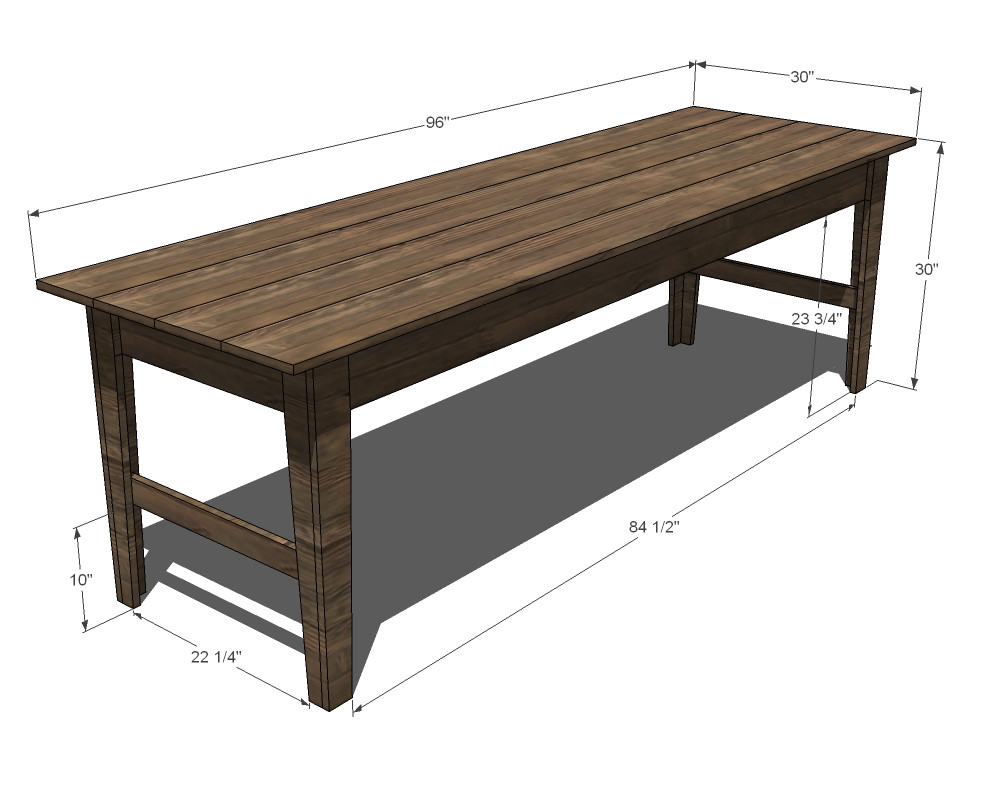 Best ideas about DIY Farmhouse Table Plans . Save or Pin Ana White Now.