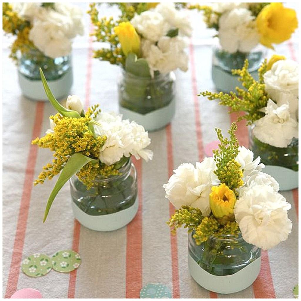 Best ideas about DIY Flower Wedding . Save or Pin DIY flower jars Now.