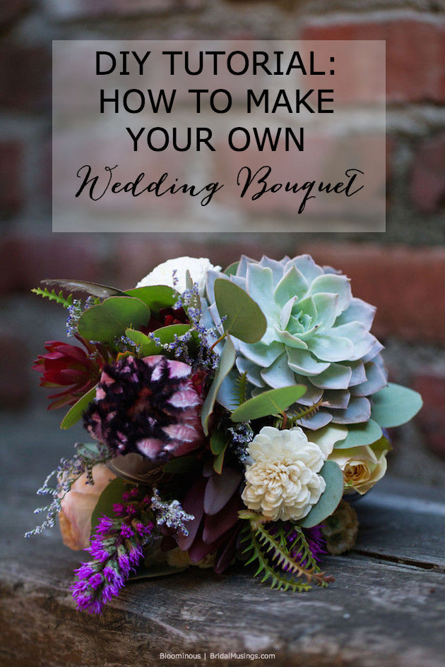 Best ideas about DIY Flower Wedding . Save or Pin DIY Tutorial How To Make Your Own Bohemian Wedding Bouquet Now.