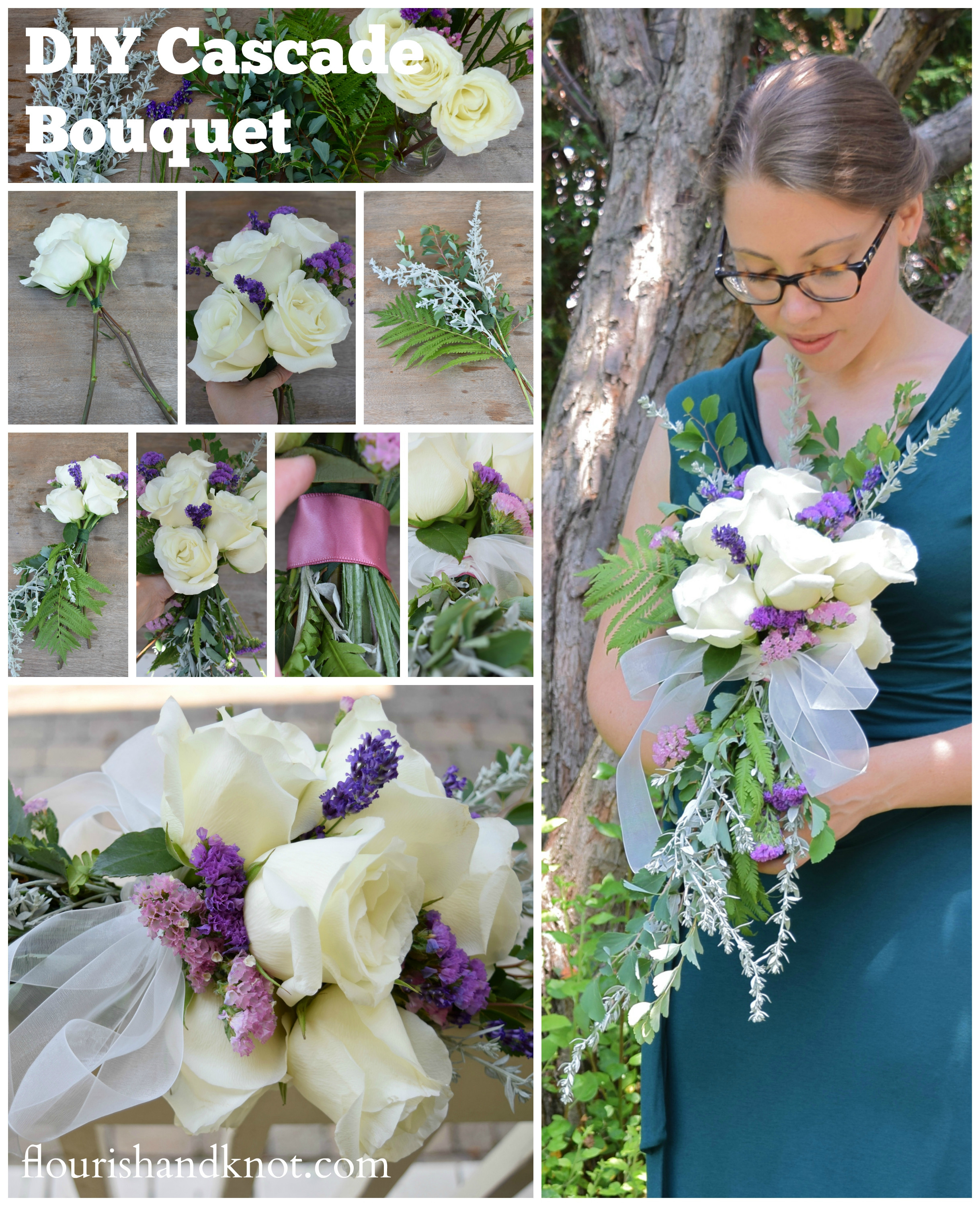 Best ideas about DIY Flower Wedding . Save or Pin How to create a cascade bouquet Now.