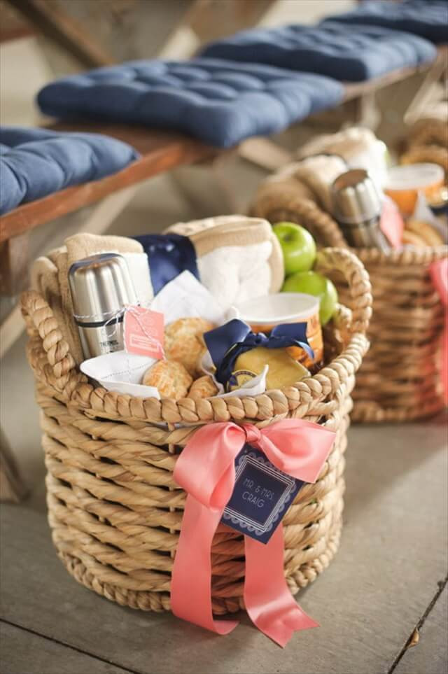Best ideas about Diy Gift Baskets Ideas . Save or Pin DIY Bud Friendly Gift Basket For Holiday Now.