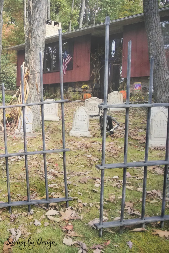 Best ideas about DIY Graveyard Fence . Save or Pin DIY Outdoor Halloween Decorations Now.