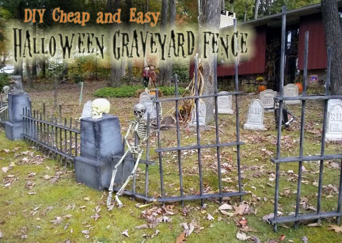 Best ideas about DIY Graveyard Fence . Save or Pin DIY Halloween Graveyard Spooky Cheap & Easy Saving Now.