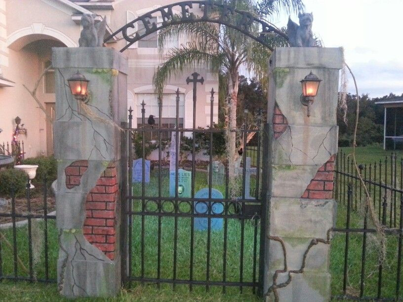 Best ideas about DIY Graveyard Fence . Save or Pin DIY Halloween Cemetery 2013 Now.