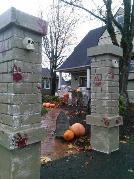Best ideas about DIY Graveyard Fence . Save or Pin How to Make a DIY Halloween Graveyard • The Bud Decorator Now.