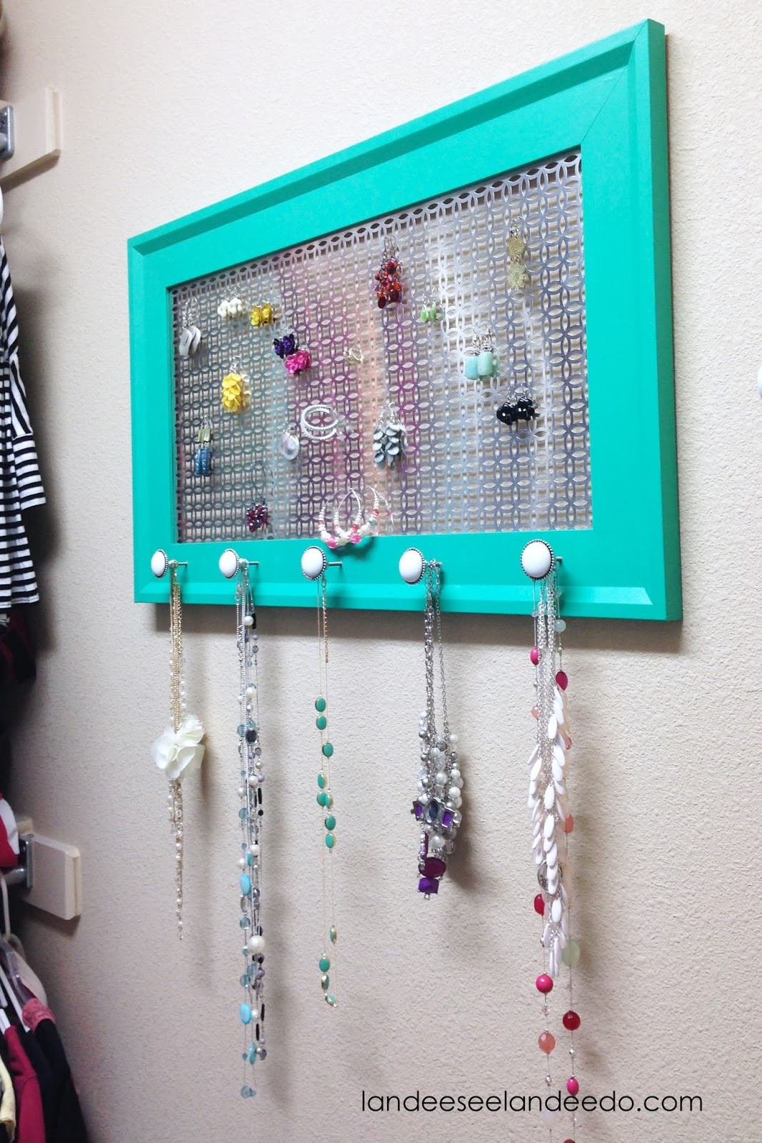 Best ideas about DIY Jewelry Rack . Save or Pin DIY Jewelry Organizer Now.