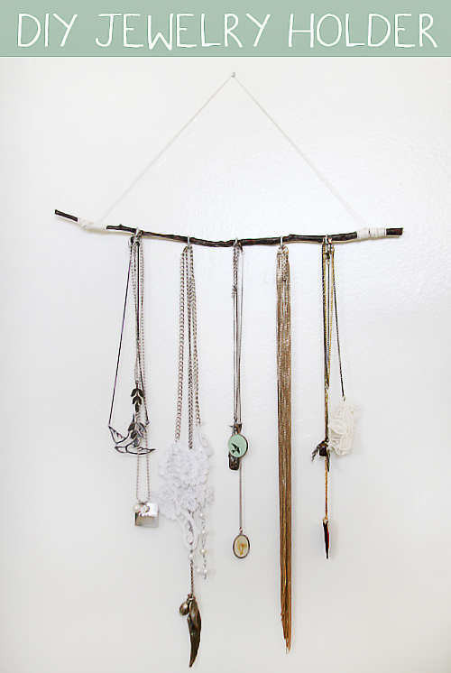 Best ideas about DIY Jewelry Rack . Save or Pin 15 Easy to Make DIY Jewellery Holders Now.